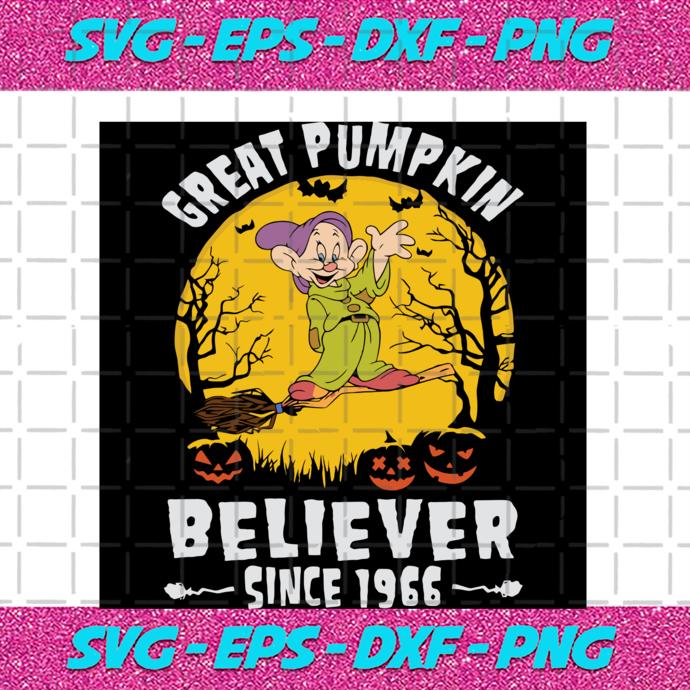 Dopey Dwarf Great Pumpkin Believer Since 1966, Halloween Svg, Pumpkin Svg,