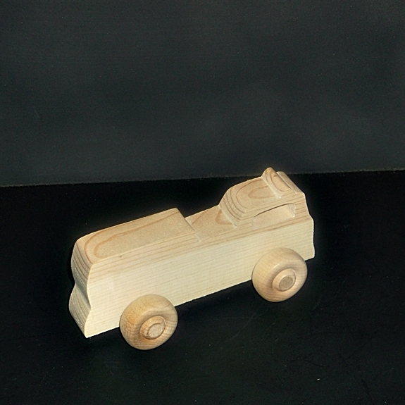 Birthday Party Pack 20 Handcrafted Wood Toy Fire Trucks BP-159BH-U  unfinished