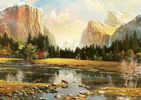 Yosemite Splendor Cross Stitch Pattern***LOOK***X***INSTANT DOWNLOAD***