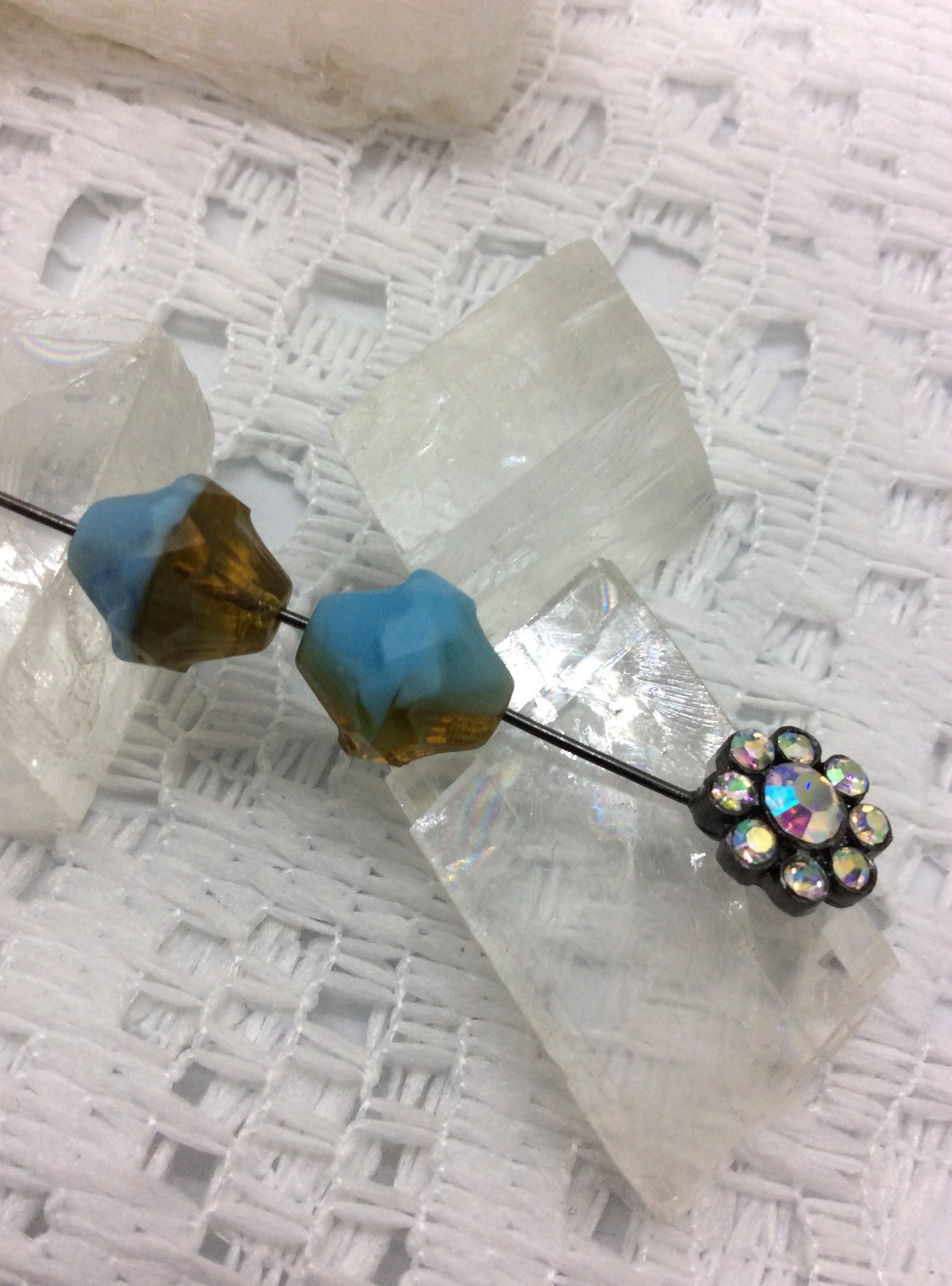 11x10 mm fire polished Czech glass  15 TURBINE  beads