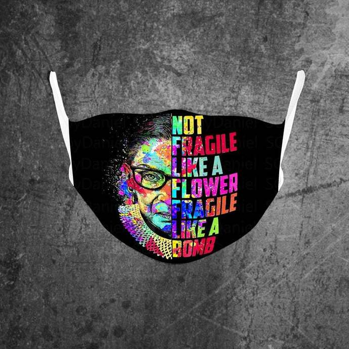 Notorious RBG Face mask , Justice Ruth Bader Ginsburg Face Mask, Feminist Face