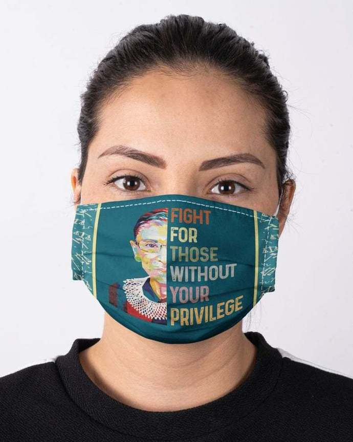 Notorious RBG Face Mask, Ruth Bader Ginsburg Face Mask, Feminism Mask, Fight For