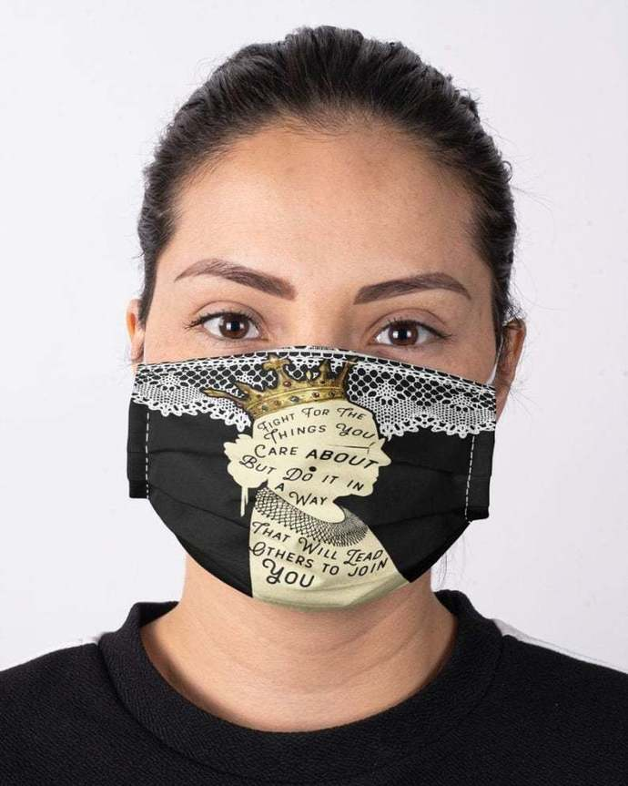 Notorious RBG Face Mask, Ruth Bader Ginsburg Face Mask, Feminist Feminism Mask,