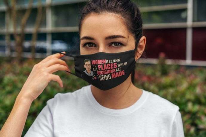 Notorious RBG Face Mask, Ruth Bader Ginsburg Face Mask, Women's Rights, Feminism