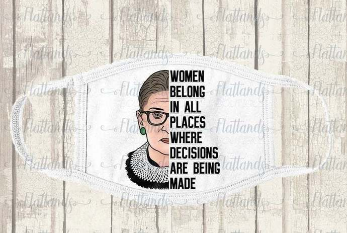 RBG Quote mask face covering