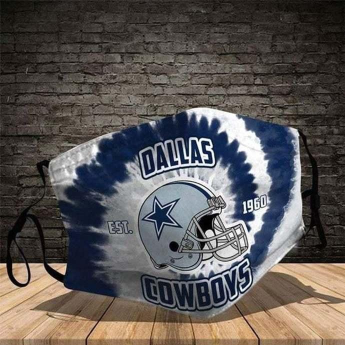Dallas Cowboy Mask, Dallas Mask, Cowboys Cotton Mask , Washable and Reusable