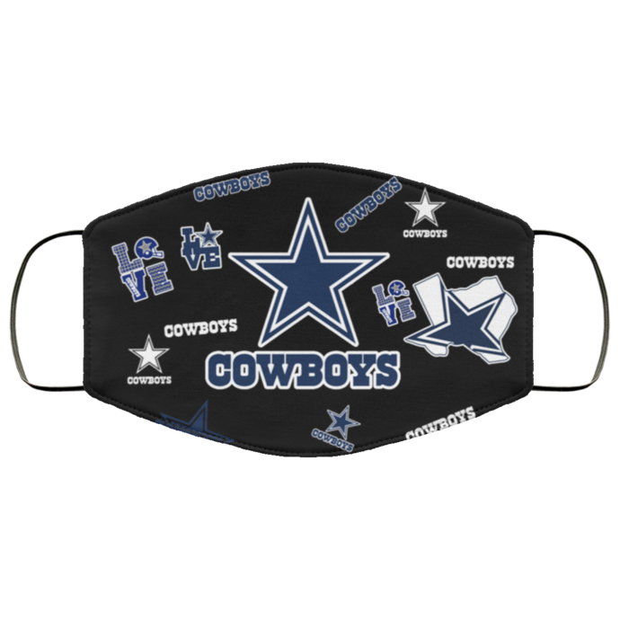 Dallas Cowboys Love Face Mask Gift, Washable Lawyer UK Mask Filter 1