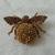 vintage topaz cognac crystals bee pin
