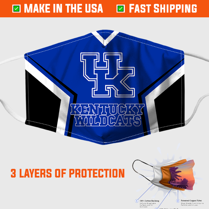 KENTUCKY WILDCATS FACE MASK – MADE IN THE USA