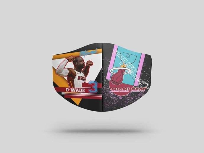 Miami Heat Dwyane Wade face mask. Gift, Washable Lawyer UK Mask Filter 1