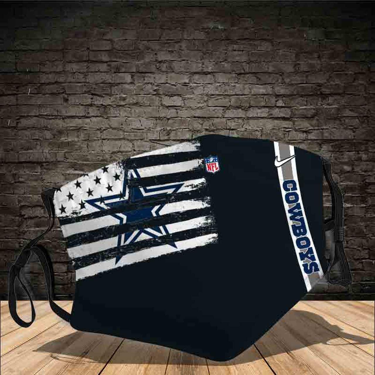 OFFICIAL NFL.DALLAS-COWBOYS Face Mask Gift, Washable Lawyer UK Mask Filter 1