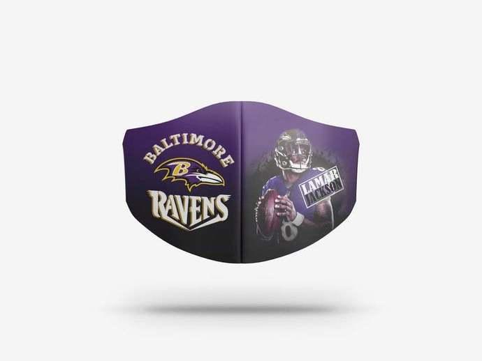 Ravens face mask Gift, Washable Lawyer UK Mask Filter 1
