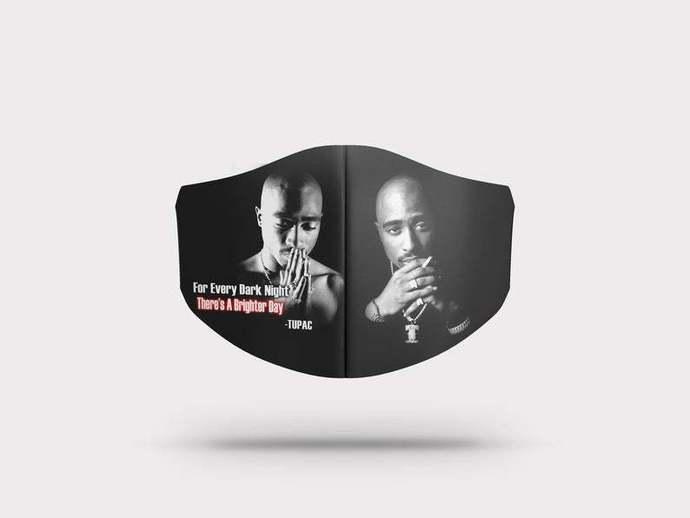 Tupac Shakur Face mask Gift, Washable Lawyer UK Mask Filter 1