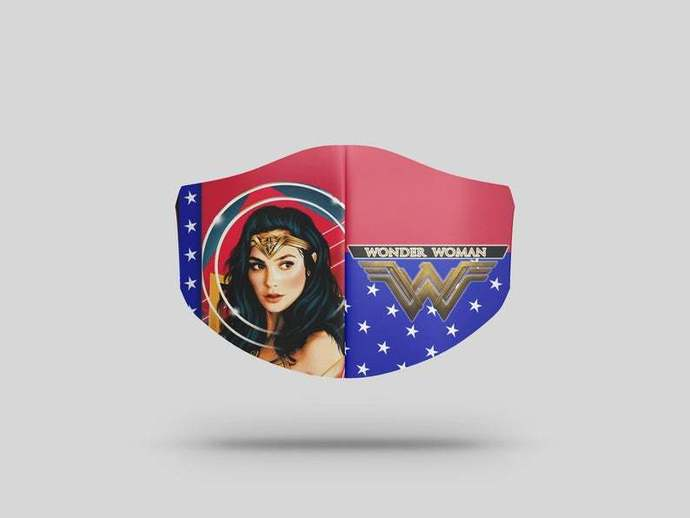 Wonder Woman Face Mask Gift, Washable Lawyer UK Mask Filter 1