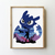 Dragon counted cross stitch pattern silhouette fairytales cute galaxy mountains