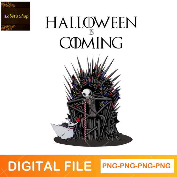 Jack Skellington Halloween Is Coming PNG, Jack Skellington Png, Pumpkin King Png