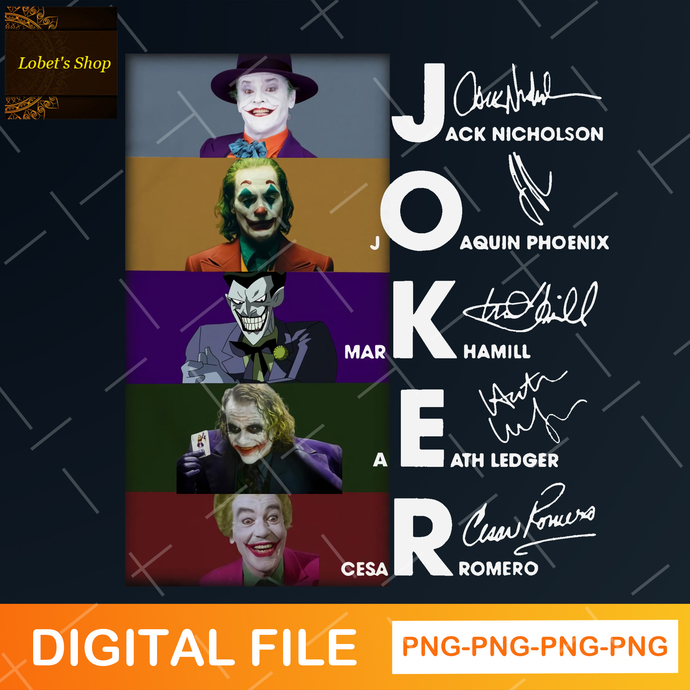 Joker PNG, Happy Halloween, Halloween Gift, Horror Characters Sublimated
