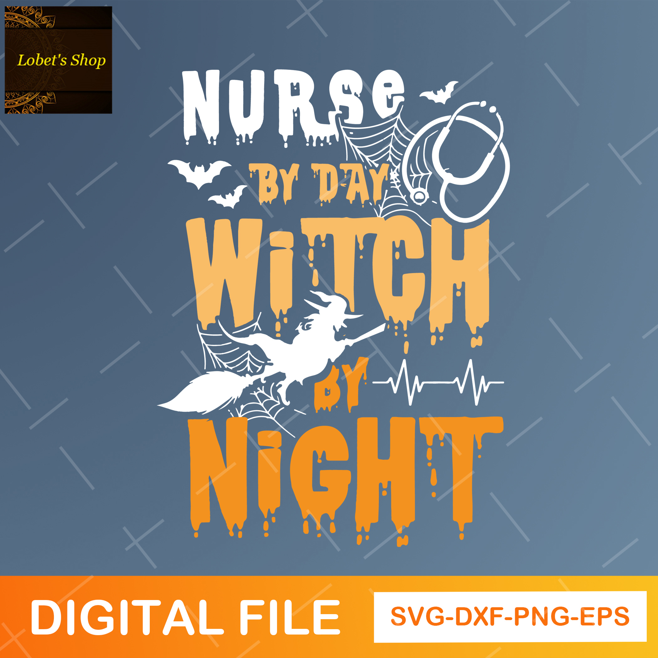 Nurse By Day Witch By Night PNG, Nurse Gift, Nursing,Halloween