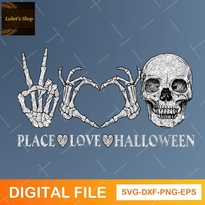 Peace Love Halloween PNG, Peace Png, Love Png, Halloween Png