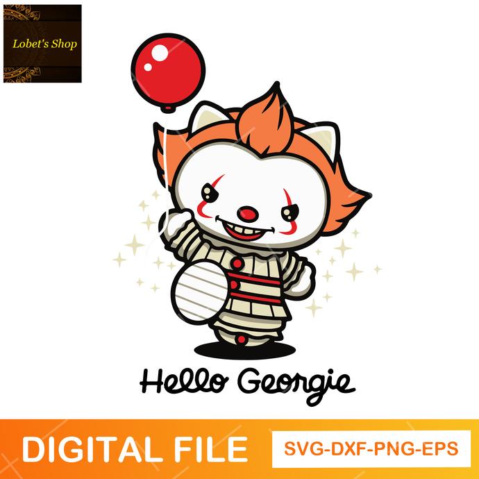Pennywise svg, hello georgie svg,png,dxf, digital file svg, halloween svg
