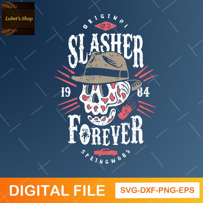 Slasher Skull halloween, Slasher digital file, Slasher svg, halloween svg