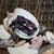 Purple Crystal Memory Wire Bracelet