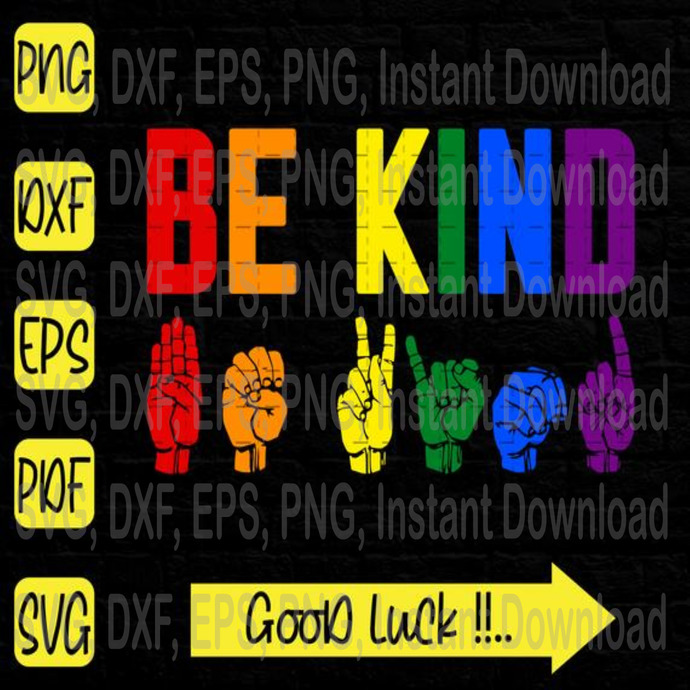 Be Kind svg, LGBT svg, Black Lives Matter svg