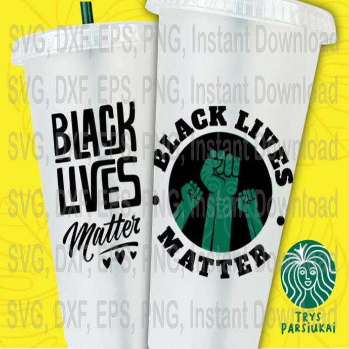 Black Lives Matter svg, Black fist svg, I can't breath svg Princes Starbucks