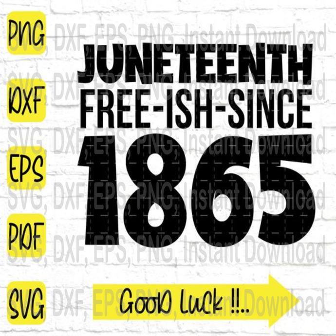 Juneteenth free-ish-since svg, Black Lives Matter svg