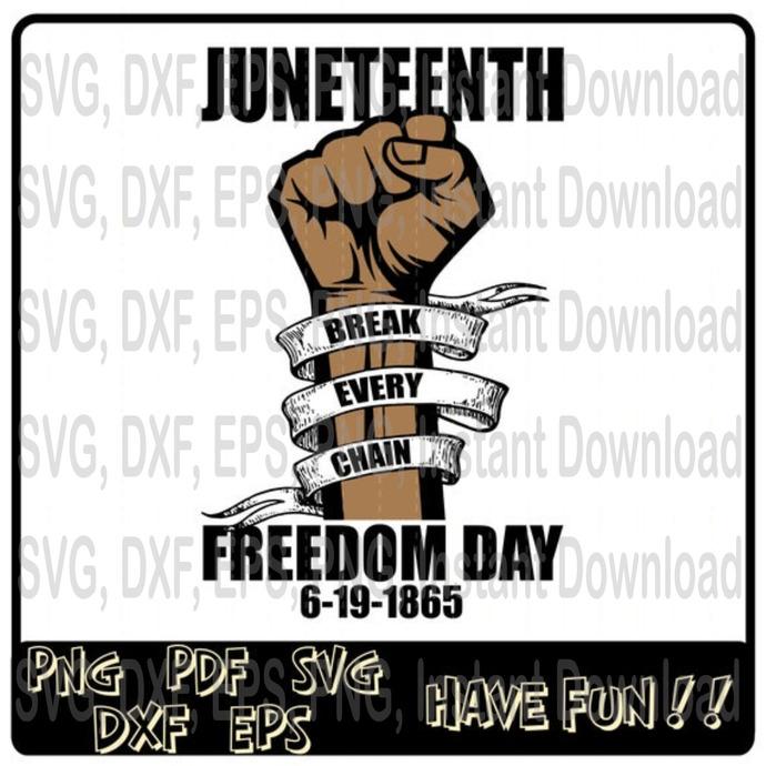 Juneteenth Break Every Chain Freedom Day svg, Black Lives Matter svg, Africa