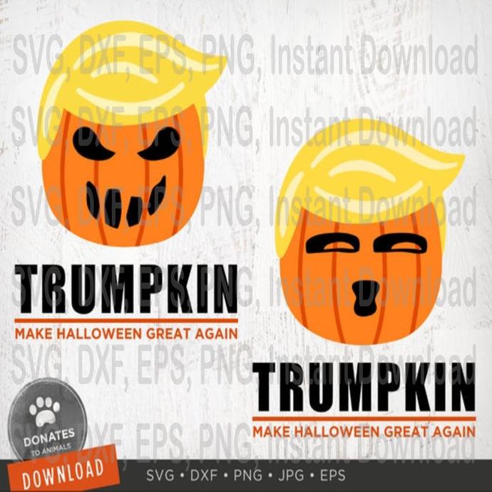 2 Trumpkin Svg Bundle Trumpkin Png Funny By Damirbensvg On Zibbet