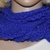 Blue Lacy Hand Knit Scarf