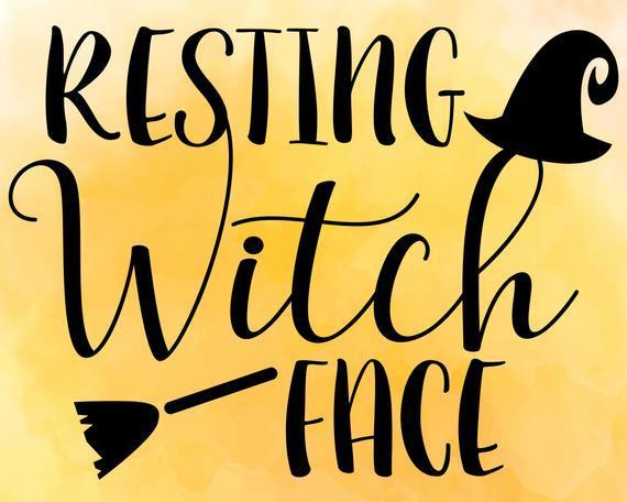Resting Witch Face Svg Halloween Svg By Linda Shop Gifts On Zibbet