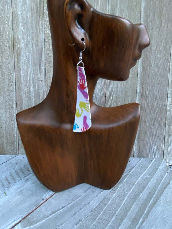 Autism Earrings Faux leather