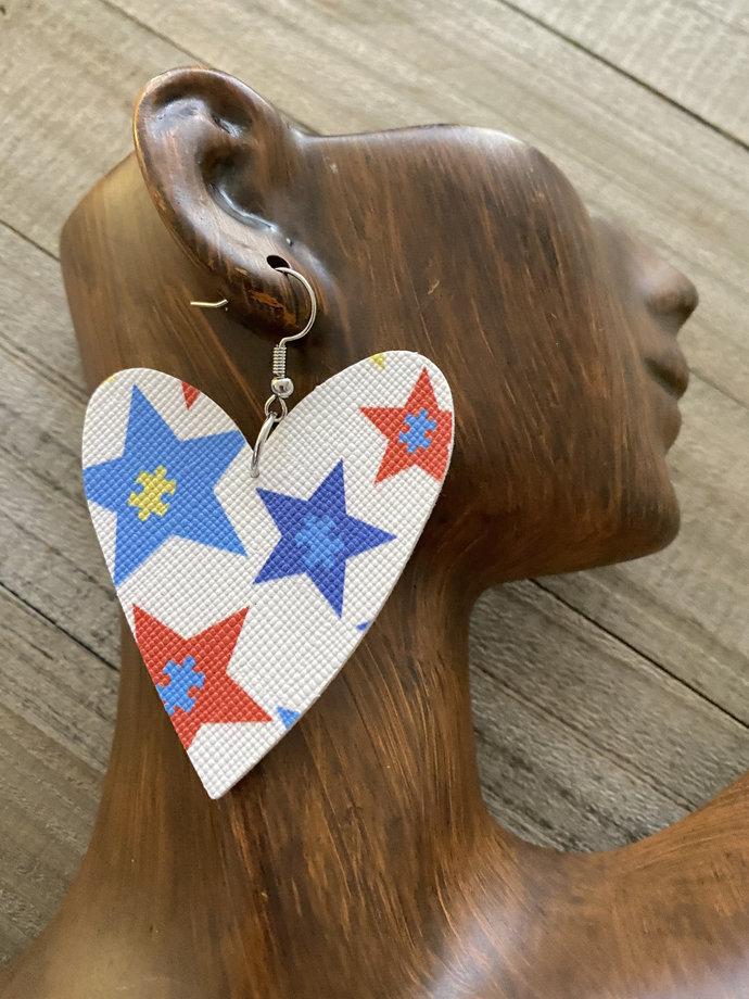 Autism Heart Earrings
