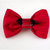 Red Satin Bow Tie for Cats, Cotton Bow, Solid Color, Hand Sewn