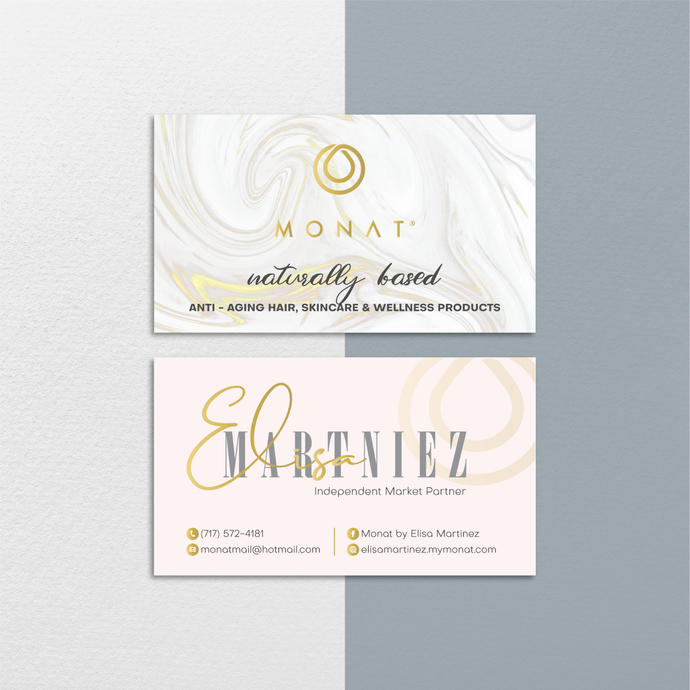 Personalized Monat Business Cards, Monat Business Cards, Monat Hair Care