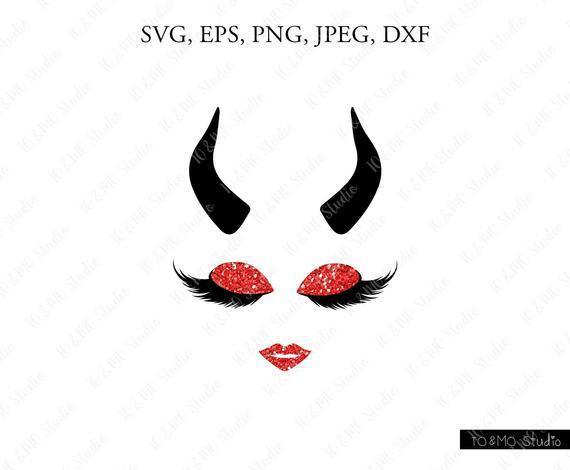 Devil Halloween Svg Devil Girl Monogram By Ralo Digital On Zibbet