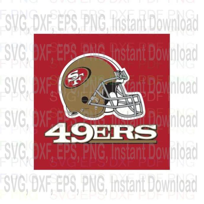 San Francisco 49ers Nfl 2 Svg Dxf Eps Pdf By Halloweennsvg On Zibbet