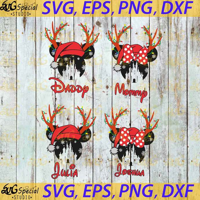 Disney Christmas Svg, Family Svg, Disney Christmas Matching Svg, Cricut File,