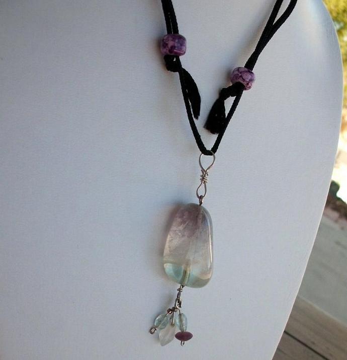 Fabulous Fluorite Adjustable Necklace
