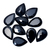 Black Spinel Faceted Pear Semi Precious Loose Gemstone, Black Spinel Faceted