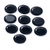Black Spinel Faceted Oval Loose Gemstone ,AAA Rated Faceted Black Spinel