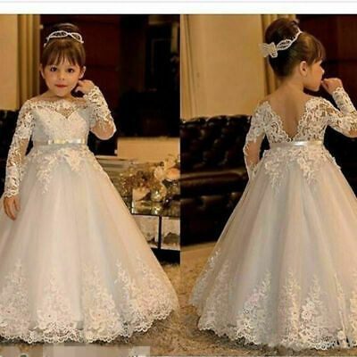 white flower girl dresses for weddings first communion dresses lace applique