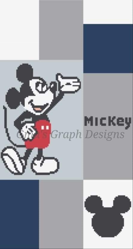 Mickey Crib 112 x 208 sc