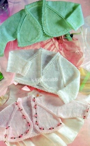 PDF Digital Download Vintage Knitting Pattern Babies Baby Bolero Jacket