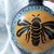"2.75"" Glass Ball Honey Bee Silhouette Ornament"