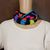 Neon Infinity Cowl Hand Knit