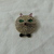 vintage colored rhinestones kitty cat pin