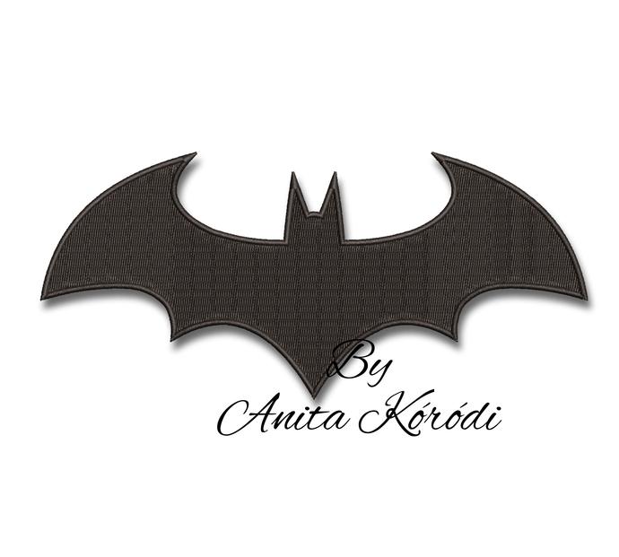 Batman logo embroidery  machine design pes pe pattern